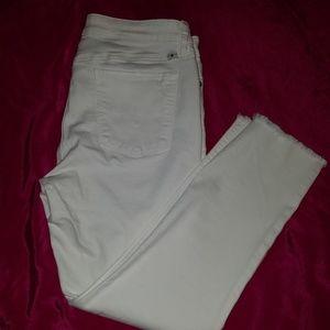 Lucky Brand White Lolita Capri Jeans